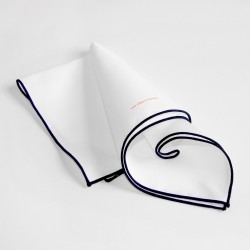 Lee Oppenheimer Cotton White Handkerchief No. 1